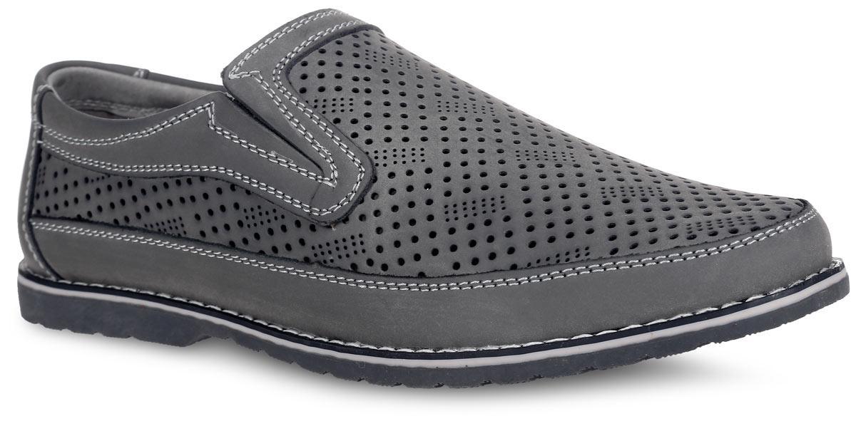 Туфли для мальчика Котофей, цвет: серый. 732109-21. Размер 37732109-21Стильные летние туфли для мальчика от Котофей выполнены из натуральной высококачественной кожи и оформлены по верху перфорацией для лучшей воздухопроницаемости, по ранту - светлой прострочкой. Отсутствие застежек позволяет легко обувать и снимать обувь. Расположенные по бокам эластичные вставки обеспечивают лучшее прилегание обуви к стопе. Кожаные подкладка и стелька, которая дублирована мягким вспененным материалом, гарантируют комфорт при ходьбе. Подошва оснащена рифлением для лучшего сцепления с поверхностями. Такие туфли займут достойное место среди коллекции обуви вашего ребенка.
