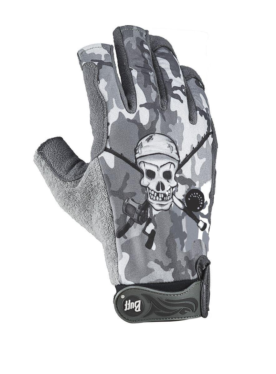 Перчатки рыболовные Buff Figthing Work Gloves Toothy Grey, цвет: серый. 111726.937.25.00. Размер M/L (7,5-8)