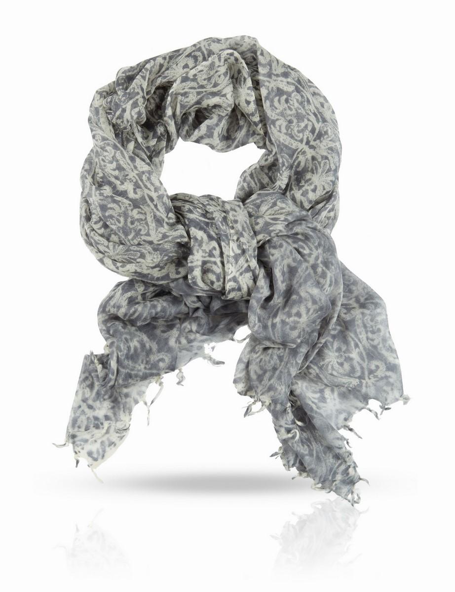 Палантин Michel Katana, цвет: серый, бежевый. W-WASHED/GREY. Размер 100 x 200 смW-WASHED/GREYРазмытый и неопределенный, полупрозрачный импрессионистский принт этого палантина идеально сочетается с фактурой тончайшей 100% шерстяной ткани. Этот аксессуар легок, как дыхание, и как дыхание, согревает вас, если вдруг налетел прохладный ветерок. Michel Katana дарит вам истинно французский подход к цвету и качеству: это деликатная роскошь, служащая рамой для вашей красоты и защитой вашей хрупкости.