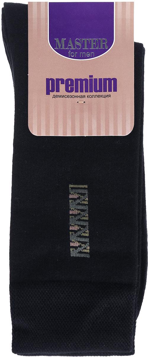 Носки мужские Master Socks, цвет: черный. 58001. Размер 2758001Удобные носки Master Socks, изготовленные из высококачественного комбинированного материала, очень мягкие и приятные на ощупь, позволяют коже дышать.Эластичная широкая резинка плотно облегает ногу, не сдавливая ее, обеспечивая комфорт и удобство. Носки оформлены ненавязчивым изображением на паголенке.Практичные и комфортные носки великолепно подойдут к любой вашей обуви.