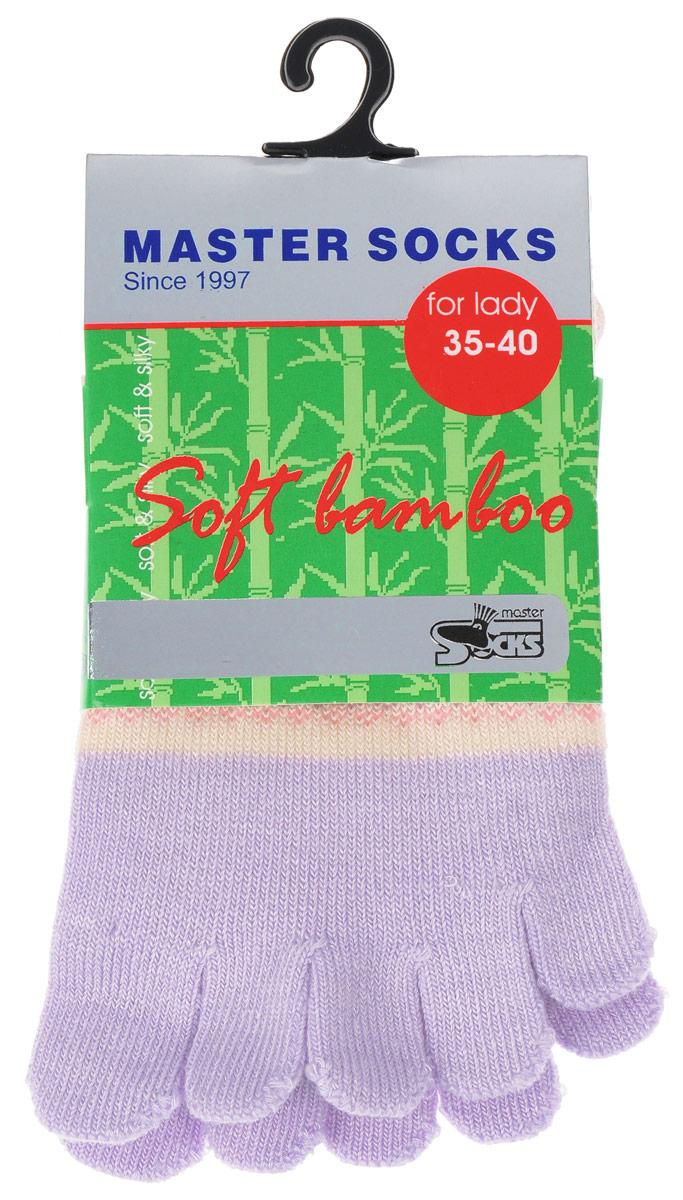 Носки женские Master Socks, цвет: сиреневый. 85680. Размер 23/2585680Стильные носки с отделениями для пальцев Master Socks, изготовленные из высококачественного комбинированного материала, очень мягкие и приятные на ощупь, позволяют коже дышать.Эластичная широкая резинка плотно облегает ногу, не сдавливая ее, обеспечивая комфорт и удобство. Носки оформлены лаконичными узорами.Оригинальные и комфортные носки великолепно подойдут к любой вашей обуви.