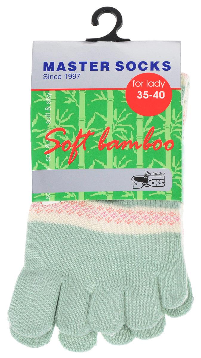 Носки женские Master Socks, цвет: зеленый. 85680. Размер 23/2585680Стильные носки с отделениями для пальцев Master Socks, изготовленные из высококачественного комбинированного материала, очень мягкие и приятные на ощупь, позволяют коже дышать.Эластичная широкая резинка плотно облегает ногу, не сдавливая ее, обеспечивая комфорт и удобство. Носки оформлены лаконичными узорами.Оригинальные и комфортные носки великолепно подойдут к любой вашей обуви.