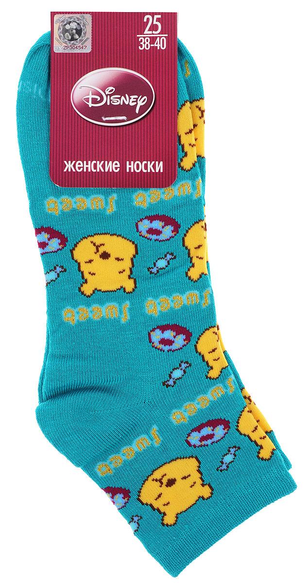 Носки женские Master Socks, цвет: лазурь. 15861. Размер 2515861Удобные укороченные носки Master Socks, изготовленные из высококачественного комбинированного материала, очень мягкие и приятные на ощупь, позволяют коже дышать.Эластичная резинка плотно облегает ногу, не сдавливая ее, обеспечивая комфорт и удобство. Носки оформлены принтом с изображением героев мультфильма.Практичные и комфортные носки великолепно подойдут к любой вашей обуви.