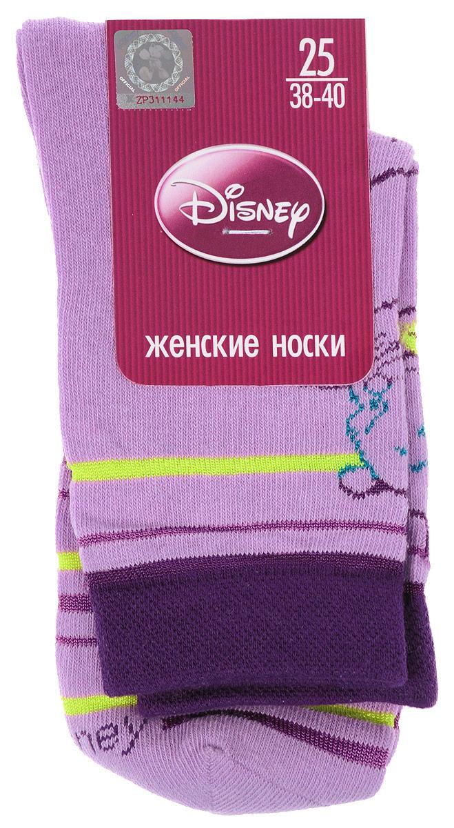 Носки женские Master Socks, цвет: лиловый. 15100. Размер 2315100Удобные носки Master Socks, изготовленные из высококачественного комбинированного материала, очень мягкие и приятные на ощупь, позволяют коже дышать.Эластичная резинка плотно облегает ногу, не сдавливая ее, обеспечивая комфорт и удобство. Носки оформлены принтом с изображением героев мультфильма.Практичные и комфортные носки великолепно подойдут к любой вашей обуви.
