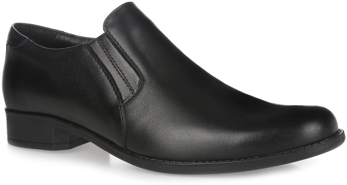 Туфли для мальчика Elegami, цвет: черный. 5-34460901. Размер 325-34460901Стильные туфли от Elegami придутся по душе вашему юному моднику! Модель выполнена из натуральной кожи и дополнена эластичными резинками на подъеме для лучшей фиксации изделия на ноге. Подкладка и стелька, изготовленные из натуральной кожи, предотвратят натирание и гарантируют уют. Стелька дополнена супинатором, который обеспечивает правильное положение ноги ребенка при ходьбе, предотвращает плоскостопие. Подошва оснащена рифлением для лучшего сцепления с различными поверхностями. Удобные классические туфли - незаменимая вещь в гардеробе каждого мальчика.