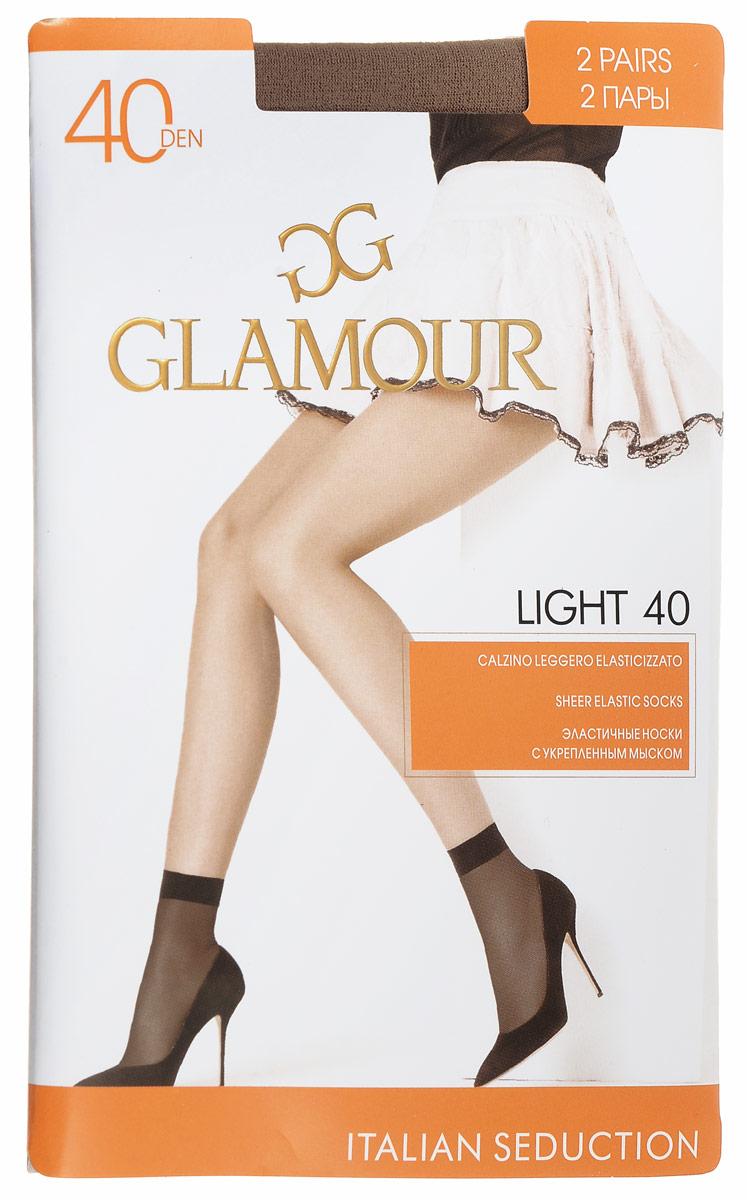Носки женские Glamour Light 40, цвет: Miele (телесный), 2 пары. 25815. Размер универсальныйLight 40Удобные женские носки Glamour Light 40, изготовленные из высококачественного эластичного полиамида, идеально подойдут для повседневной носки. Входящий в состав материала полиамид обеспечивает износостойкость, а эластан позволяет носочкам легко тянуться, что делает их комфортными в носке.Эластичная резинка плотно облегает ногу, не сдавливая ее, обеспечивая комфорт и удобство и не препятствуя кровообращению. Практичные и комфортные носки с укрепленным мыском великолепно подойдут к любой открытой обуви. В комплект входят 2 пары носков. Плотность: 40 den.