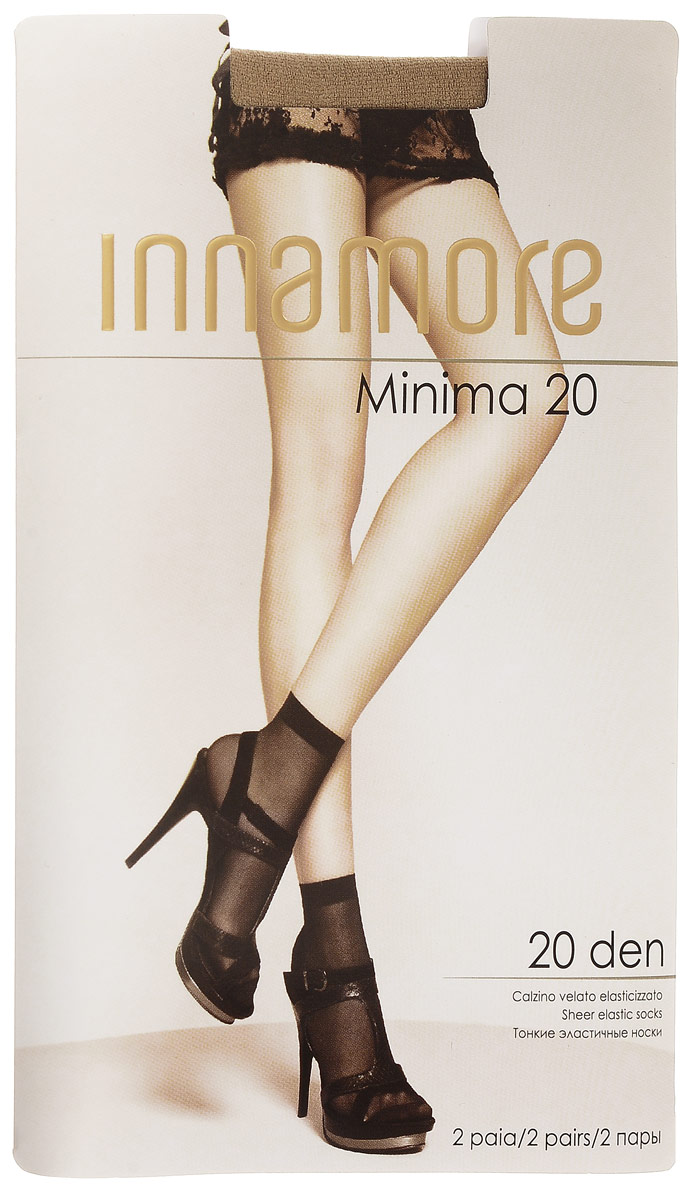Носки женские Innamore Minima 20, цвет: Miele (телесный), 2 пары. 6002. Размер универсальныйMinima 20Удобные женские носки Incanto Minima 20, изготовленные из высококачественного эластичного полиамида, идеально подойдут для повседневной носки. Входящий в состав материала полиамид обеспечивает износостойкость, а эластан позволяет носочкам легко тянуться, что делает их комфортными в носке.Эластичная резинка плотно облегает ногу, не сдавливая ее, обеспечивая комфорт и удобство и не препятствуя кровообращению. Практичные и комфортные тонкие носки великолепно подойдут к любой открытой обуви. В комплект входят 2 пары носков. Плотность: 20 den.