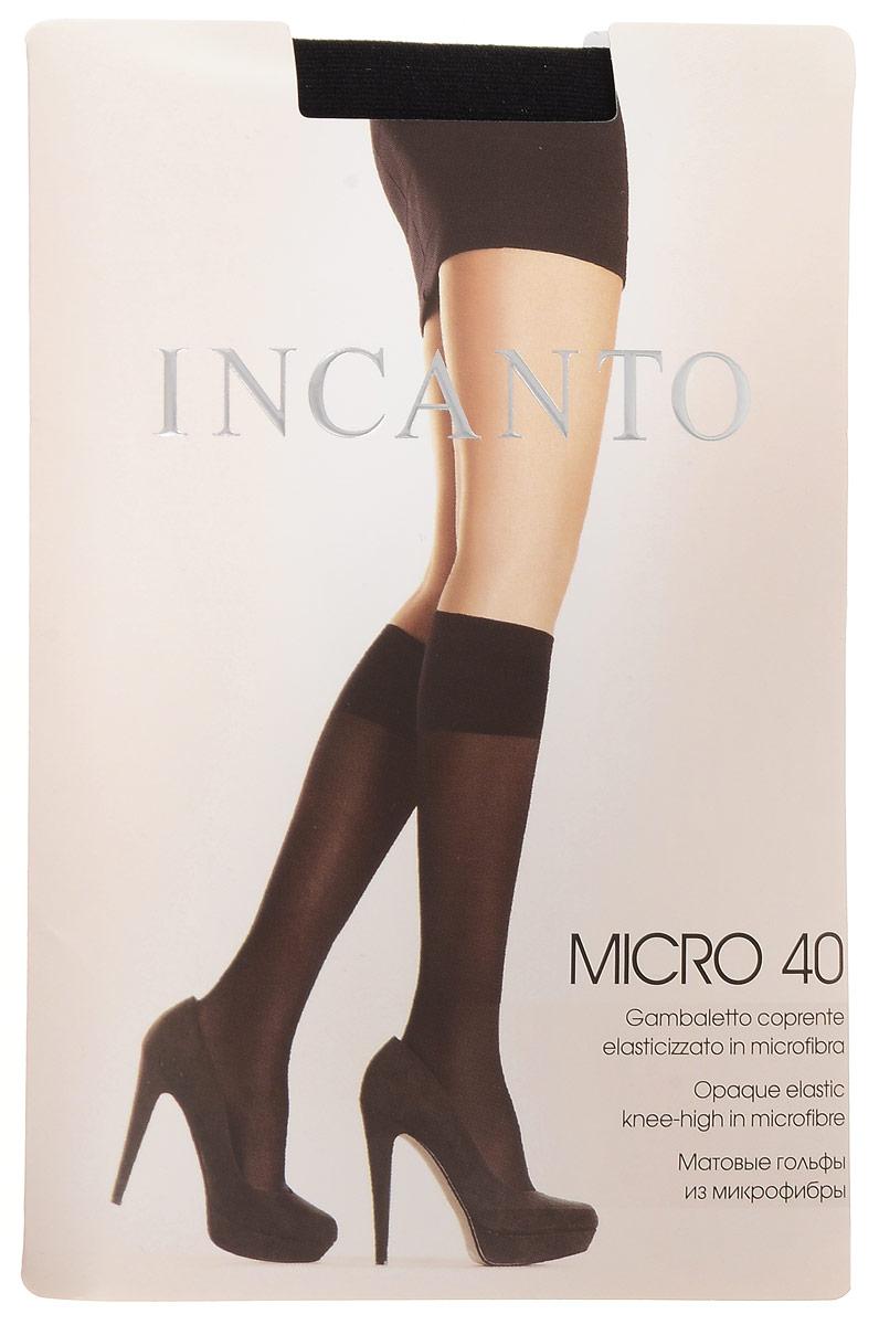 Гольфы женские Incanto Micro 40, цвет: Nero (черный). 5934. Размер универсальный5934Стильные гольфы Incanto Micro 40, изготовленные из эластичного полиамида, идеально дополнят ваш образ в прохладную погоду.Шелковистые матовые гольфы легко тянутся, что делает их комфортными в носке. Гладкие и мягкие на ощупь, они имеют удобную резинку top comfort. Идеальное облегание и комфорт гарантированы при каждом движении. Плотность: 40 den.