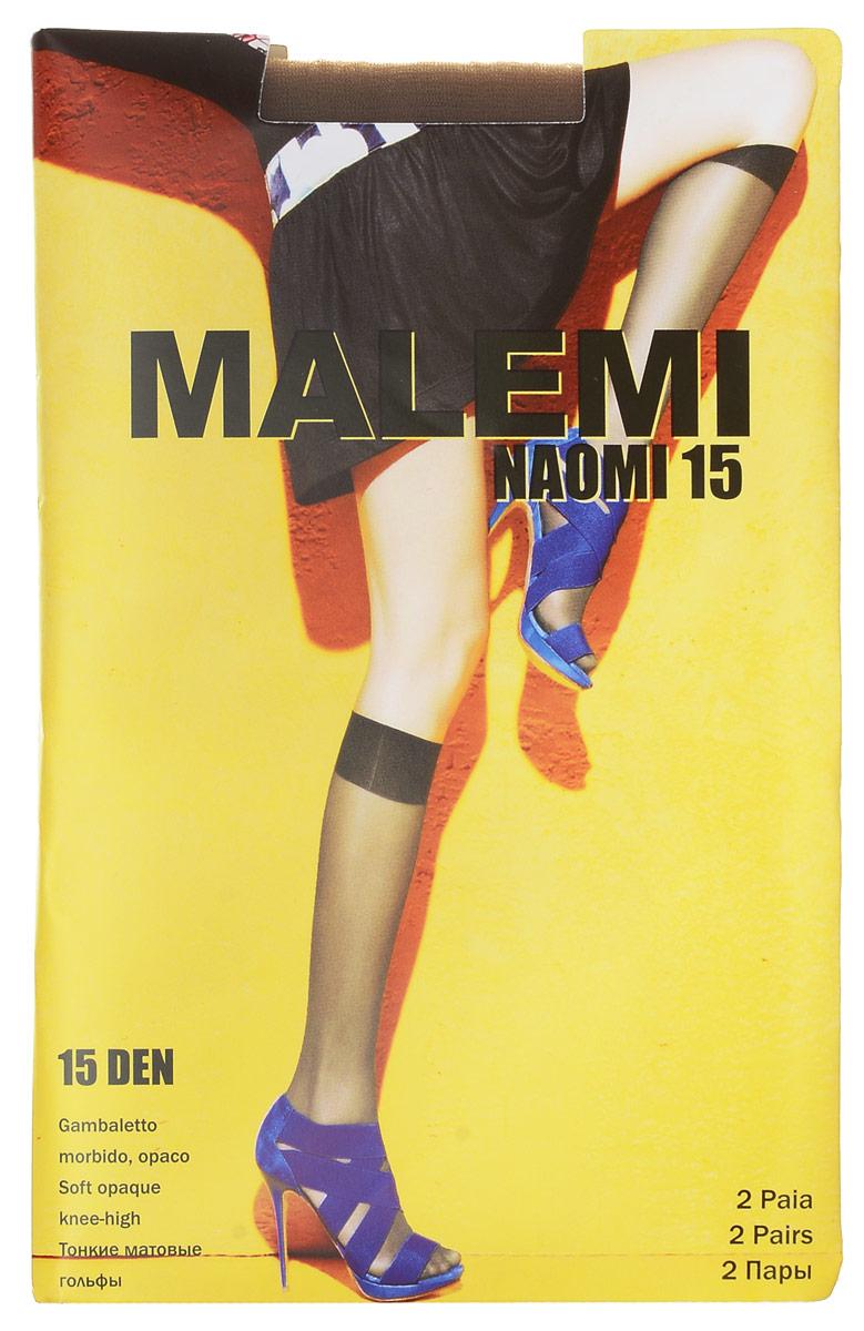 Гольфы женские Malemi Naomi 15, цвет: Daino (загар), 2 пары. 13510. Размер универсальныйNaomi 15Стильные гольфы Malemi Naomi 15, изготовленные из эластичного полиамида, идеально дополнят ваш образ в прохладную погоду.Шелковистые матовые гольфы легко тянутся, что делает их комфортными в носке. Гладкие и мягкие на ощупь, они имеют удобную мягкую резинку. Идеальное облегание и комфорт гарантированы при каждом движении. Плотность: 15 den. В комплекте 2 пары.
