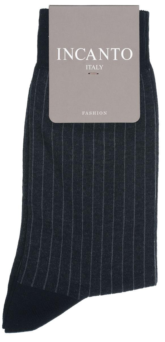 Носки мужские Incanto Fashion, цвет: Nero (черный). BU733038. Размер 2 (39/41)BU733038Мужские носки Incanto Fashion изготовлены из хлопка с добавлением полиамида. Материал тактильно приятный, хорошо пропускает воздух.Носки дополнены эластичной резинкой, не сдавливающей ногу. Усиленные пятка и мысок обеспечивают надежность и долговечность. Оформлено изделие принтом в полоску.Удобные и комфортные носки станут отличным дополнением к вашему гардеробу!