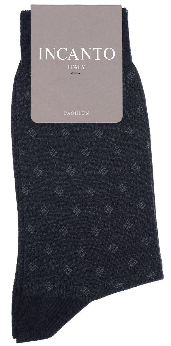 Носки мужские Incanto Fashion, цвет: Nero (черный). BU733032. Размер 2 (40/41)BU733032Мужские носки Incanto Fashion изготовлены из хлопка с добавлением полиамида. Материал тактильно приятный, хорошо пропускает воздух.Носки дополнены комфортной эластичной резинкой. Усиленные пятка и мысок обеспечивают надежность и долговечность. Оформлено изделие изображением ромбов.Удобные и прочные носки станут отличным дополнением к вашему гардеробу!