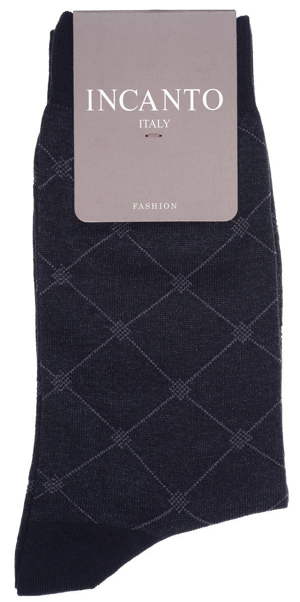 Носки мужские Incanto Fashion, цвет: Nero (черный). BU733033. Размер 3 (42/43)BU733033Мужские носки Incanto Fashion изготовлены из хлопка с добавлением полиамида. Материал тактильно приятный, хорошо пропускает воздух.Носки дополнены комфортной эластичной резинкой. Усиленные пятка и мысок обеспечивают надежность и долговечность. Оформлено изделие геометрическим принтом.Удобные и прочные носки станут отличным дополнением к вашему гардеробу!