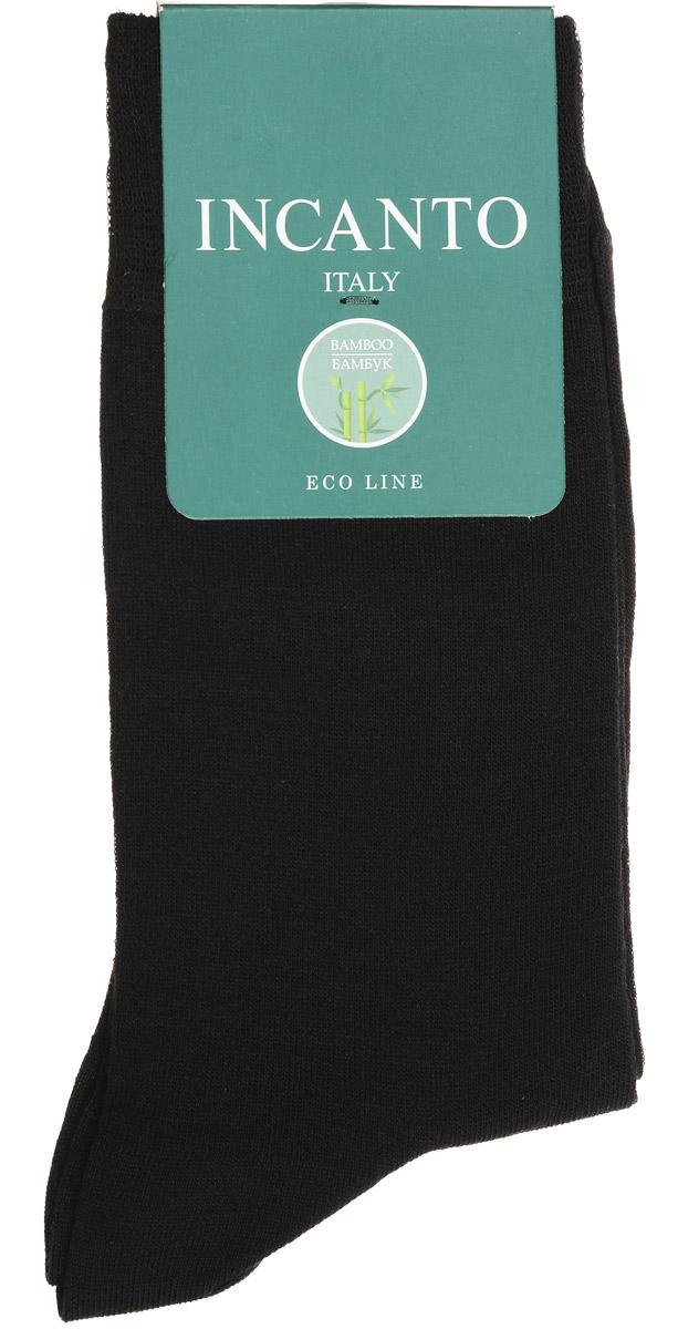 Носки мужские Incanto, цвет: Nero (черный). BU733024. Размер 42/43BU733024Мужские носки Incanto изготовлены из бамбукового волокна с добавлением полиамида и эластана, которые обеспечивают великолепную посадку. Удобная широкая резинка идеально облегает ногу, усиленные пятка и мысок повышают износоустойчивость носка.