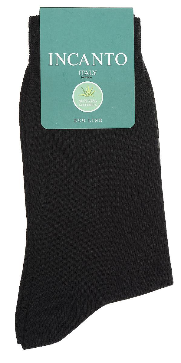 Носки мужские Incanto, цвет: Nero (черный). BU733023. Размер 39/41BU733023Мужские носки Incanto изготовлены из высококачественного материала с содержанием экстракта алоэ вера. Добавление полиамидных волокон обеспечивает великолепную посадку. Удобная широкая резинка идеально облегает ногу, усиленные пятка и мысок повышают износоустойчивость носка.