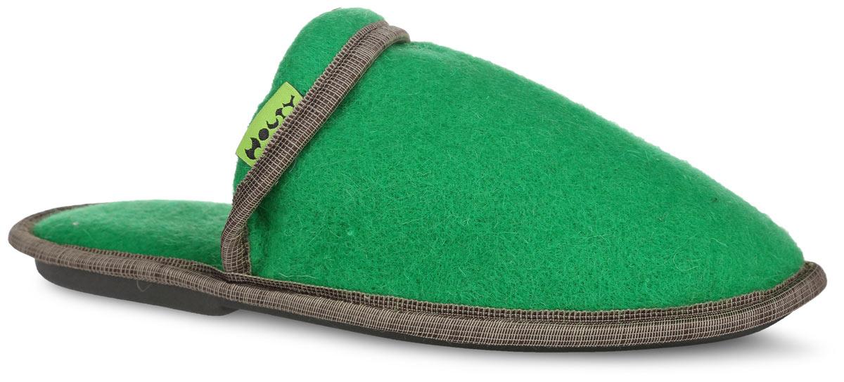 Тапки мужские Holty Комфорт-премиум, цвет: зеленый. 030319-2500.59/эп. Размер 42030319-2500.59/эпМягкие мужские тапки Комфорт-премиум от Holty выполнены из натуральной овечьей шерсти и оформлены текстильной окантовкой. Содержащий в натуральной шерсти животный воск, взаимодействуя с кожей человека, благотворно влияет на мышцы и суставы. Уникальным свойством шерсти является способность поглощать влагу, свободно ее рассеивать, оставляя при этом ноги сухими. Тапки идеально подойдут для ношения в помещениях с любыми типами полов, для прогрева ног сухим теплом, защиты от воздействия холода и сквозняков, и снятия усталости. Рельефная подошва, выполненная из ЭВА материала, обеспечивает сцепление с любой поверхностью. Легкие и мягкие тапки подарят чувство уюта и комфорта.
