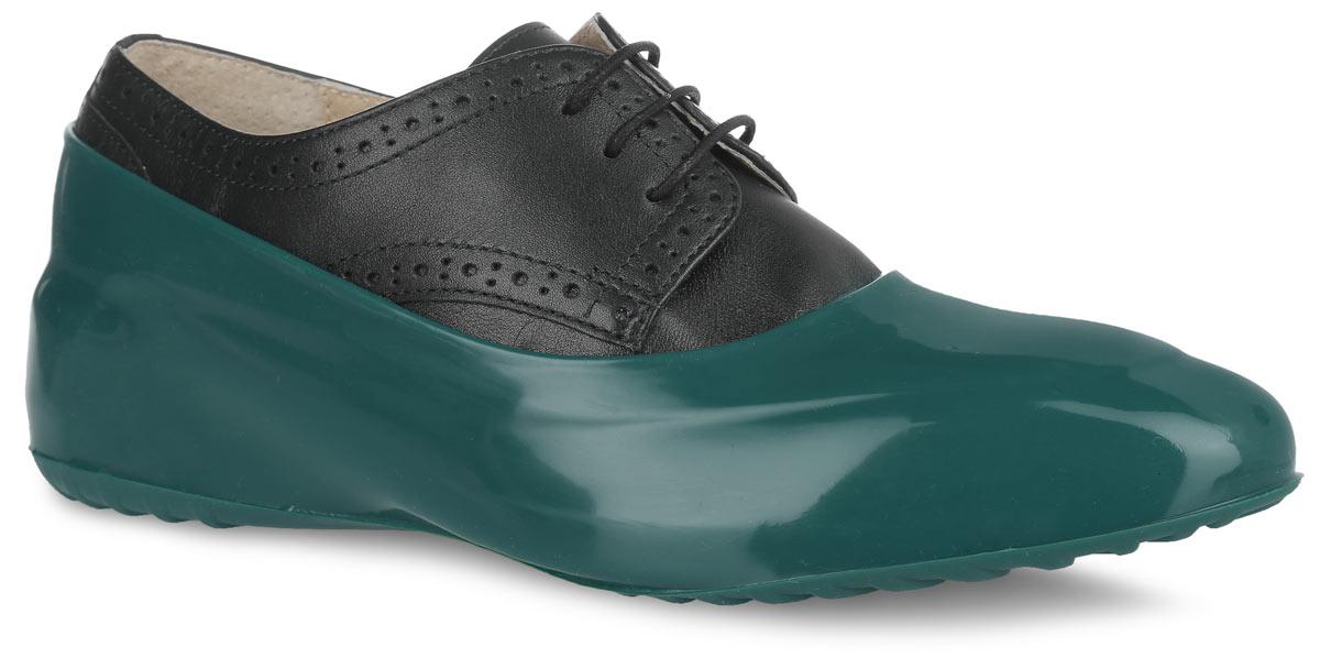Галоши на обувь женские Мир Галош, цвет: темно-зеленый. WBGREEN. Размер 39/40WBGREENСтильные женские галоши предназначены для защиты обуви без каблука. Модель выполнена из силикона с добавлением резины. Галоши легко надеваются на обувь и принимают ее форму. Они защищают обувь от влаги, грязи, снега, соли и песка. Также галоши оберегают заднюю часть обуви от повреждения при нажатии на педали автомобиля. Галоши легко моются и быстро сохнут. Рифление на подошве обеспечивает отличное сцепление с любой поверхностью. Модные галоши не только защитят вашу обувь, они помогут изменить ее внешний вид, сделав его более эффектным.