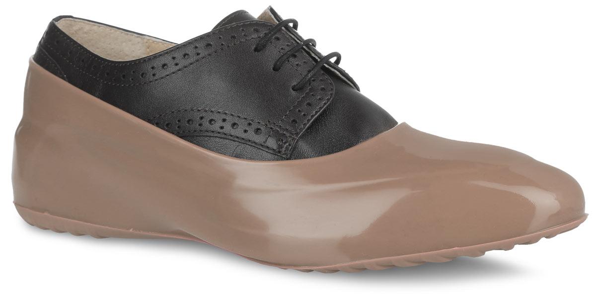 Галоши на обувь женские Мир Галош, цвет: бежевый. WBR 99. Размер 39/40WBR 99Стильные женские галоши предназначены для защиты обуви без каблука. Модель выполнена из силикона с добавлением резины. Галоши легко надеваются на обувь и принимают ее форму. Они защищают обувь от влаги, грязи, снега, соли и песка. Также галоши оберегают заднюю часть обуви от повреждения при нажатии на педали автомобиля. Галоши легко моются и быстро сохнут. Рифление на подошве обеспечивает отличное сцепление с любой поверхностью. Модные галоши не только защитят вашу обувь, они помогут изменить ее внешний вид, сделав его более эффектным.