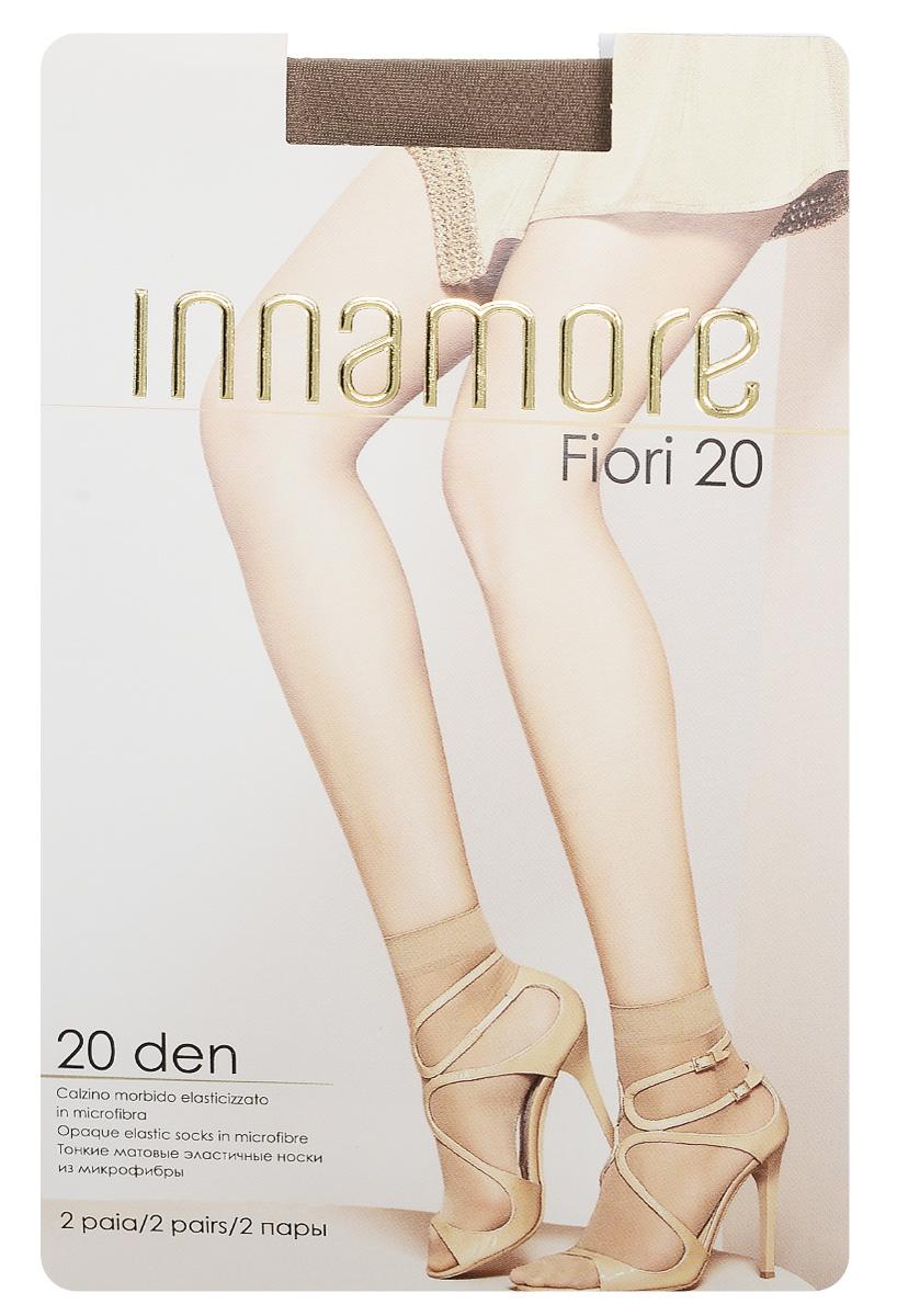 Носки женские Innamore Fiori 20, цвет: Daino (загар), 2 пары. 6040. Размер универсальный6040Удобные женские носки Innamore Fiori 20, изготовленные из высококачественного эластичного полиамида, идеально подойдут для повседневной носки. Входящий в состав материала полиамид обеспечивает износостойкость, а эластан позволяет носочкам легко тянуться, что делает их комфортными в носке.Эластичная резинка плотно облегает ногу, не сдавливая ее, обеспечивая комфорт и удобство и не препятствуя кровообращению. Практичные и комфортные носки великолепно подойдут к любой открытой обуви. В комплект входят 2 пары носков.
