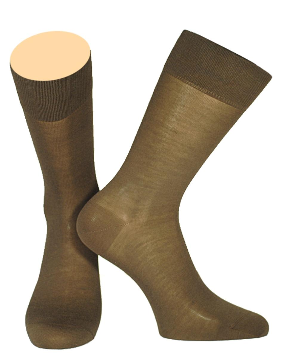 Носки мужские Collonil, цвет: коричневый. 141/06. Размер 44-46141/06Мужские носки Collonil изготовлены из мерсеризованного хлопка.Носки с удлиненным паголенком. Широкая резинка не сдавливает и комфортно облегает ногу.