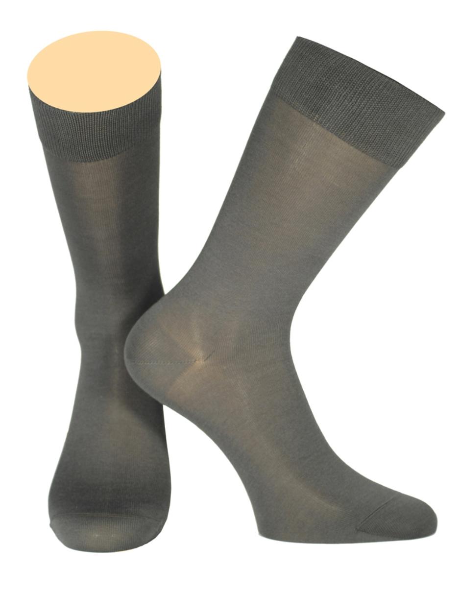 Носки мужские Collonil, цвет: темно-серый. 154/32. Размер 44-46154/32Мужские носки Collonil изготовлены из шелка и кашемира.Носки с удлиненным паголенком. Широкая резинка не сдавливает и комфортно облегает ногу.