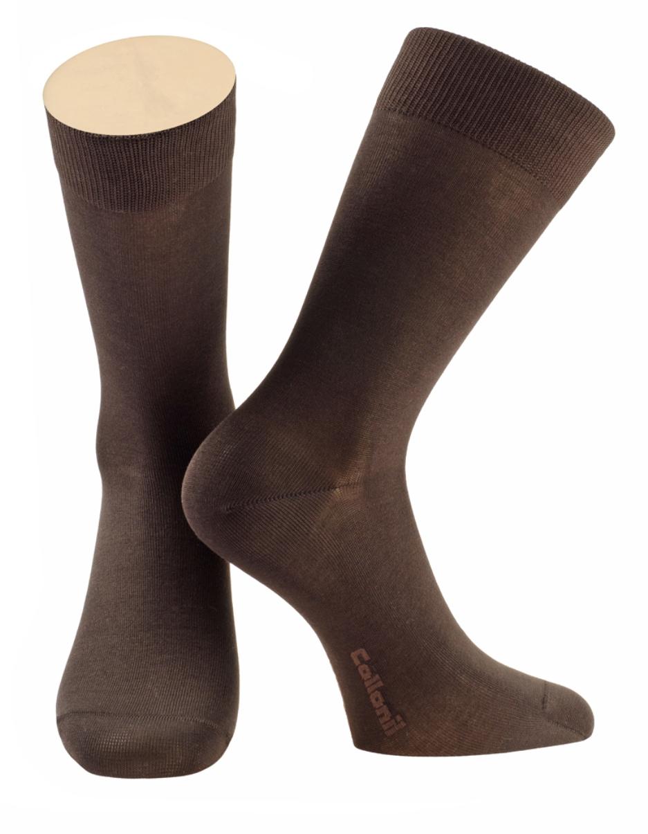 Носки мужские Collonil, цвет: коричневый. 2-07/06. Размер 42-432-07/06Мужские носки Collonil изготовлены из эластичного мерсеризованного хлопка.Носки с удлиненным паголенком. Широкая резинка не сдавливает и комфортно облегает ногу.