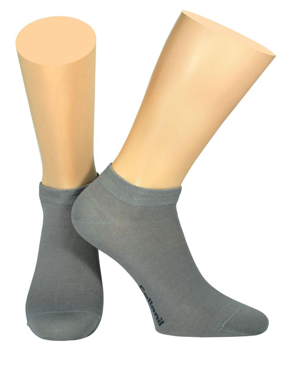 Носки мужские Collonil, цвет: серый. 2-18/02. Размер 42-432-18/02Мужские носки Collonil изготовлены из эластичного мерсеризованного хлопка с добавлением полиамида.Носки с укороченным паголенком. Широкая резинка не сдавливает и комфортно облегает ногу.