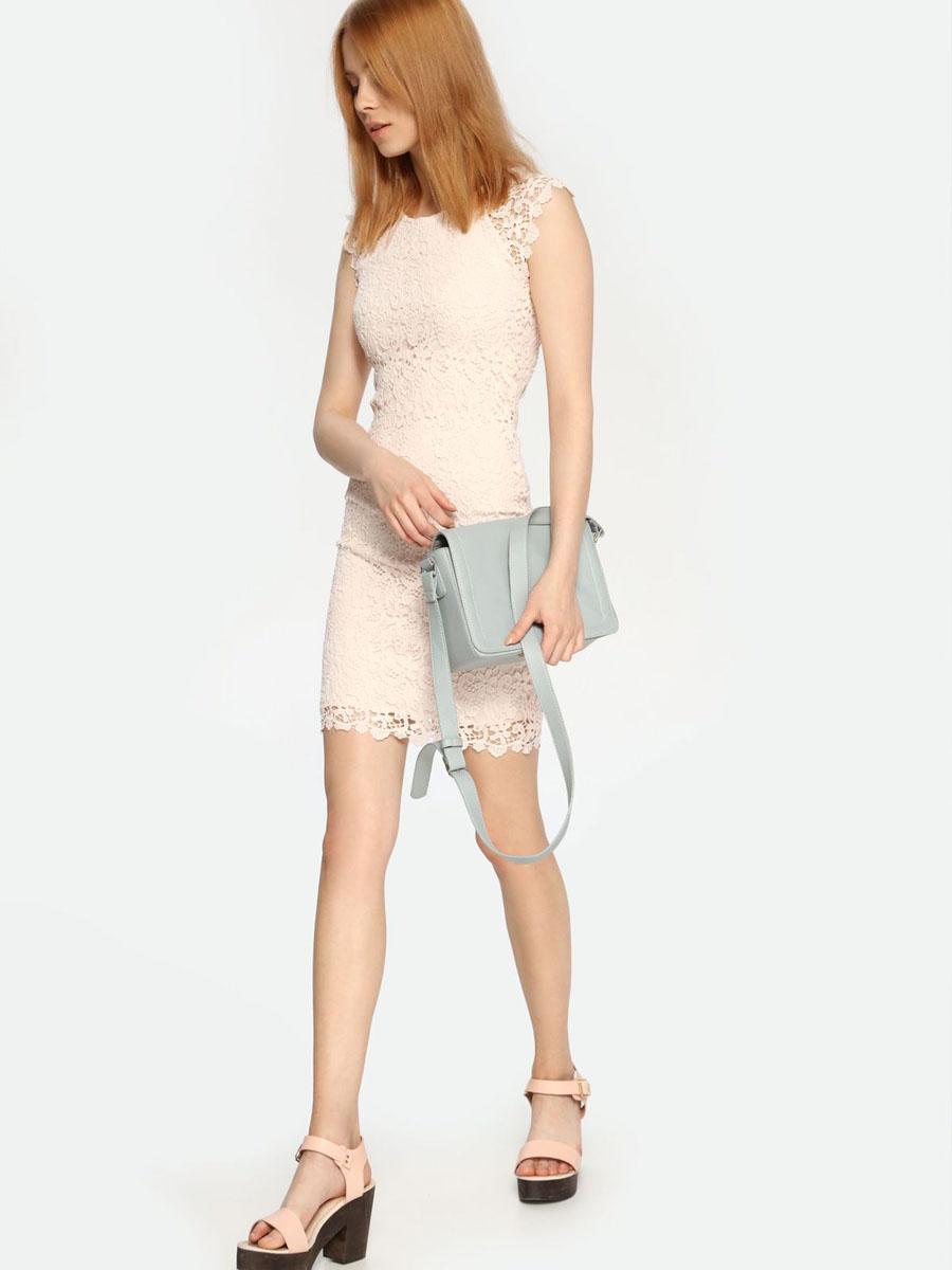 Платье Troll, цвет: бледно-розовый. TSU0524RO. Размер XL (50)TSU0524ROКружевное платье Troll выполнено из натурального хлопка и дополнено подкладкой из полиэстера. Платье-мини с круглым вырезом горловины и короткими рукавами-реглан застегивается на потайную застежку-молнию расположенную в среднем шве спинки.