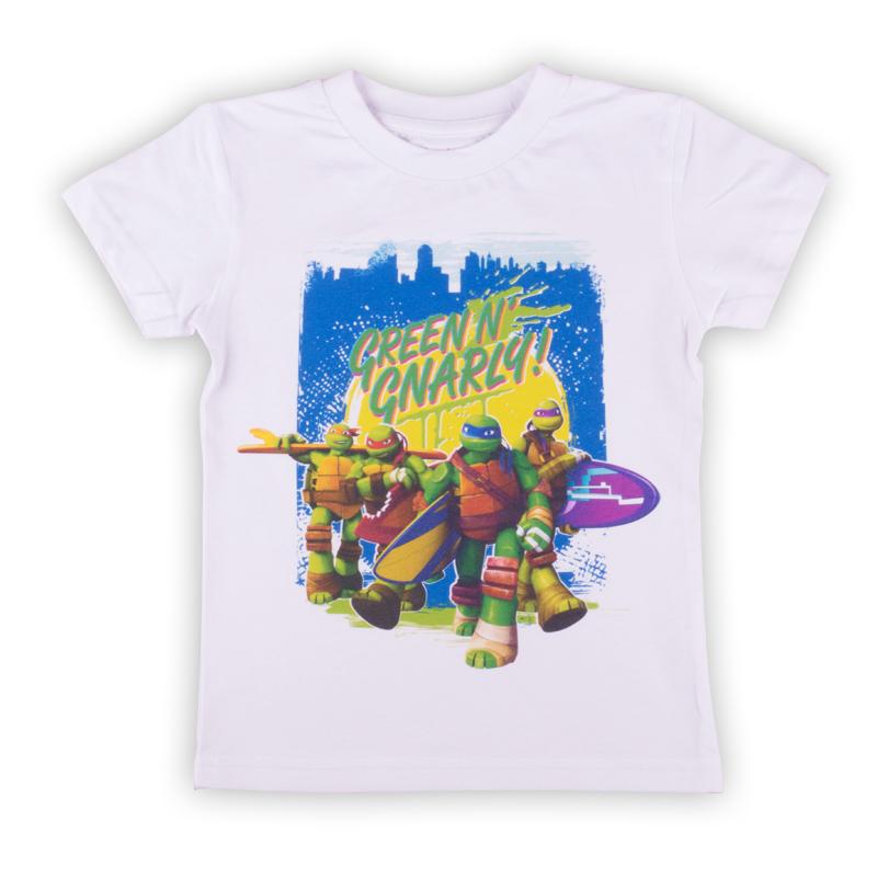 Футболка для мальчика Free Age Teenage Mutant Ninja Turtles, цвет: белый. ZВ 02278-W1. Размер 92, 2-3 годаZВ 02278-W1Удобная и комфортная в носке футболка с коротким рукавом с изображением мультипликационных героев Черепашек Ниндзя станет отличным дополнением к повседневному гардеробу мальчика.