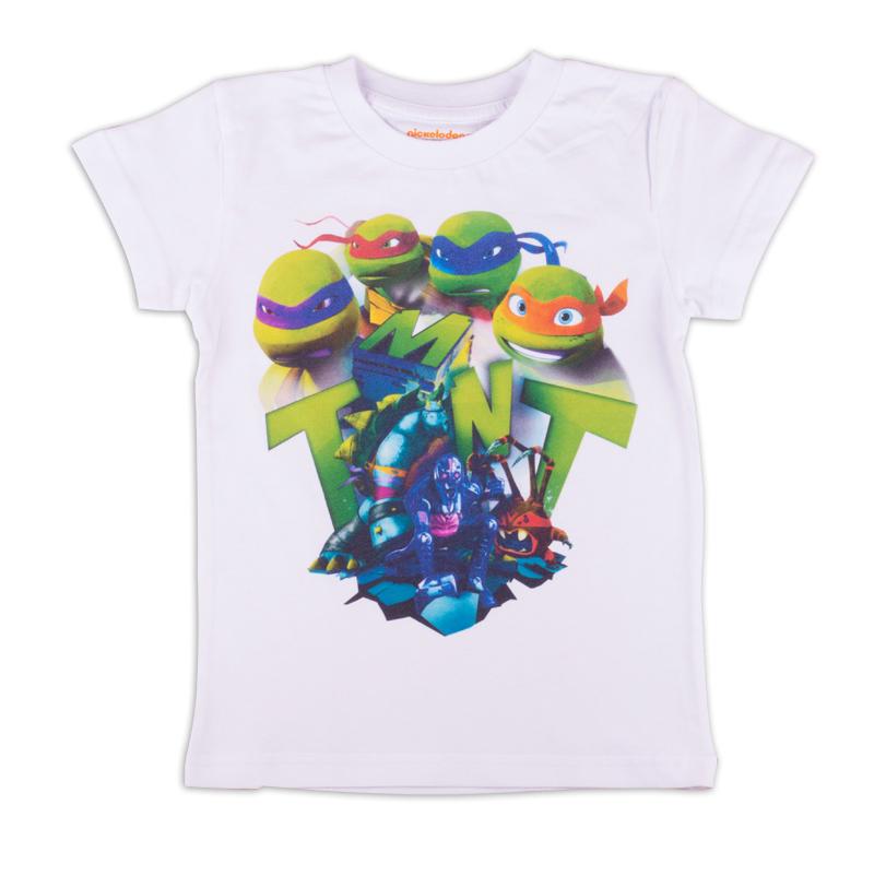 Футболка для мальчика Free Age Teenage Mutant Ninja Turtles, цвет: белый. ZВ 02281-W1. Размер 98, 3-4 годаZВ 02281-W1Удобная и комфортная в носке футболка с коротким рукавом с изображением мультипликационных героев Черепашек Ниндзя станет отличным дополнением к повседневному гардеробу мальчика.