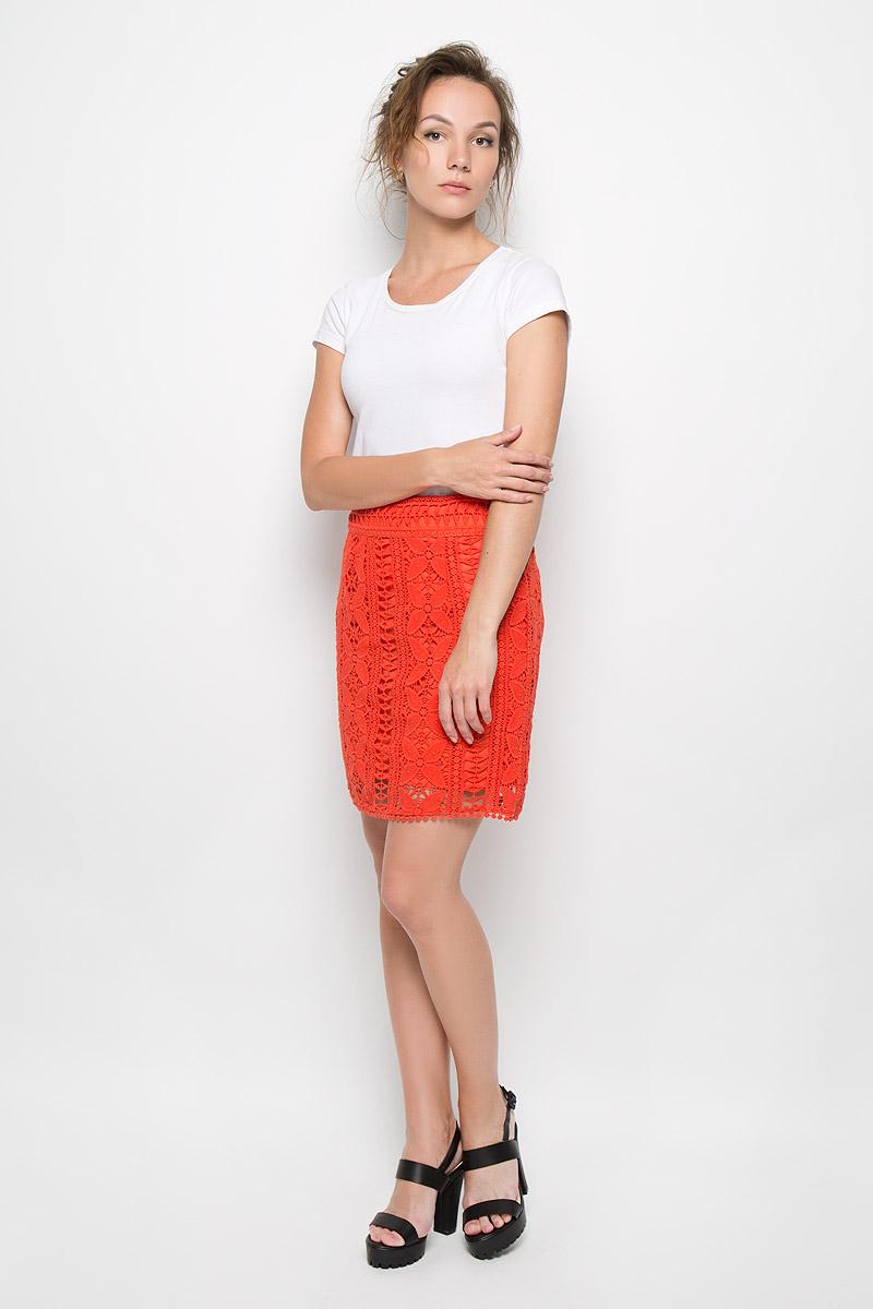 Юбка Malvin, цвет: оранжевый. 4651-690. Размер 36 (42)4651-690Стильная юбка Malvin, изготовленная из высококачественного хлопка, не раздражает нежную и чувствительную кожу, обеспечивая наибольший комфорт. Модель с подъюбником оформлена кружевом и застегивается сзади на застежку-молнию. Такая юбка подчеркнет ваш безупречный вкус и высокий стиль.