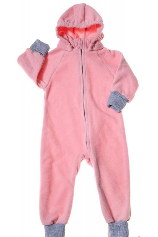 Комбинезон детский Mums Era Comfort, цвет: фламинго. 35223. Размер 68-7435223Универсальный детский комбинезон теплый и уютный. Капюшон на кнопках. Модель застегивается на молнию. Манжеты выполнены из трикотажа.