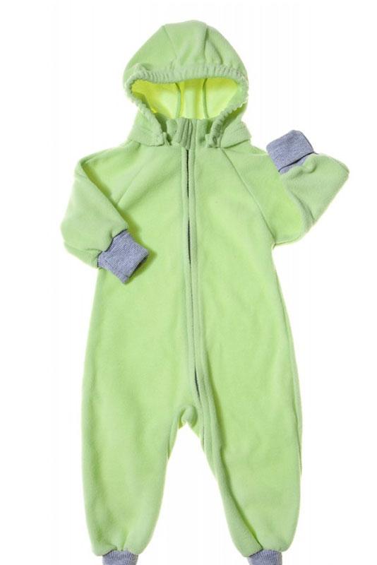 Комбинезон детский Mums Era Comfort, цвет: лайм. 35221. Размер 80-8635221Универсальный детский комбинезон теплый и уютный. Капюшон на кнопках. Модель застегивается на молнию. Манжеты выполнены из трикотажа.