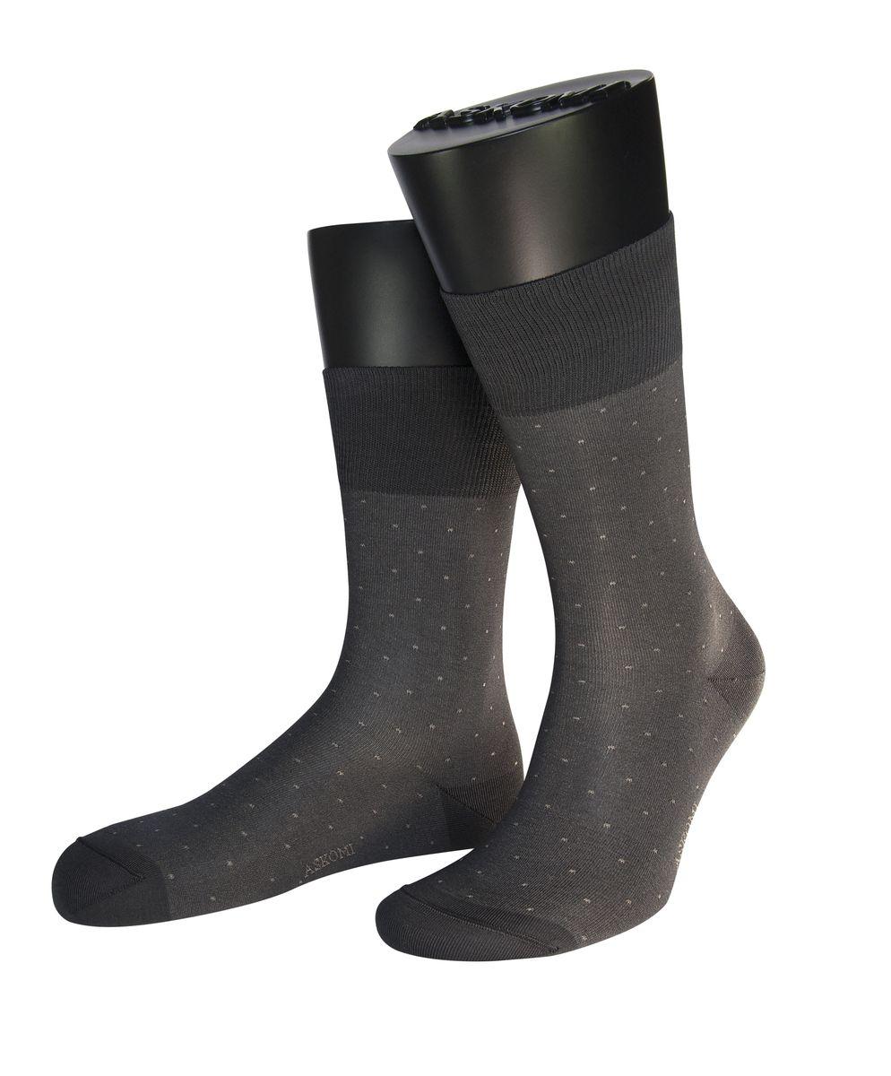 Носки мужские Askomi Classic, цвет: темно-серый. АМ-7950. Размер 25 (39/40)АМ-7950Мужские носки Askomi для повседневной носки выполнены из мерсеризованного хлопка Pima с добавлением полиамида. Такой хлопок обладает высокой прочностью, цветоустойчивостью, мягкостью. Двойной борт для плотной фиксации не пережимает сосуды. Кеттельный шов не ощутим для ноги. Стильный меланжевый дизай дополнен контрастными точками.