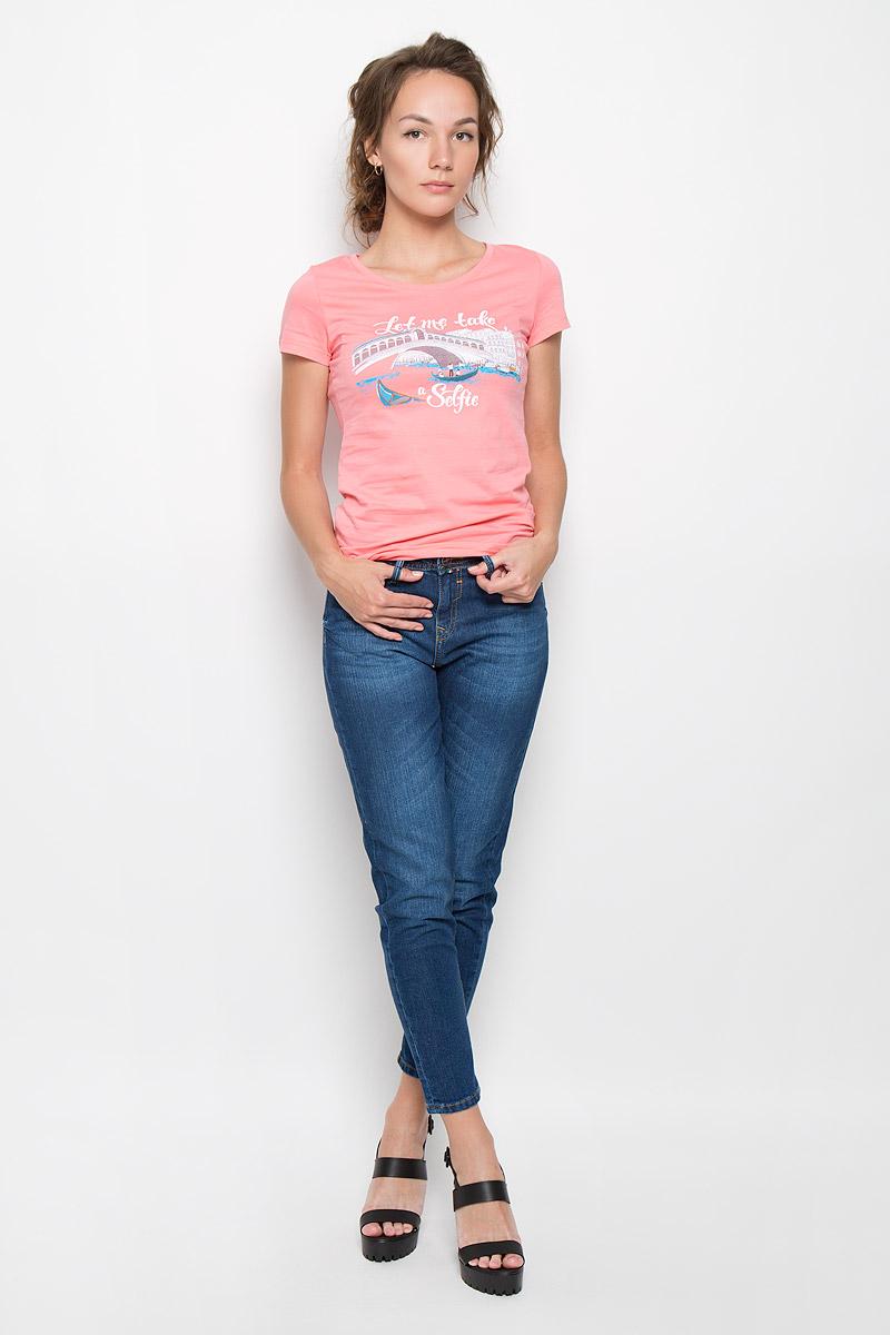 Джинсы женские F5, цвет: темно-синий. 19728. Размер 30-34 (46-34)19728_Blue denim BR.3 str., w.darkСтильные женские джинсы F5 станут отличным дополнением к вашему гардеробу. Изготовленные из хлопка с добавлением эластана, они мягкие и приятные на ощупь, не сковывают движения и позволяют коже дышать.Укороченный джинсы-слим стандартной посадки застегиваются на металлическую пуговицу по поясу и имеют ширинку на застежке-молнии, а также шлевки для ремня. Модель имеет классический пятикарманный крой: спереди - два втачных кармана и один маленький накладной, а сзади - два накладных кармана. Изделие оформлено эффектом искусственного состаривания денима: легкие потертости. Современный дизайн и расцветка делают эти джинсы модным предметом одежды. Это идеальный вариант для тех, кто хочет заявить о себе и своей индивидуальности и отразить в имидже собственное мировоззрение.