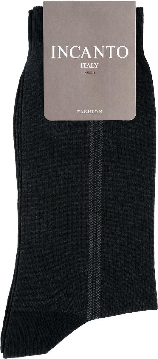 Носки мужские Incanto Fashion, цвет: Nero (черный). BU733035. Размер 3 (42/43)BU733035Мужские носки Incanto Fashion изготовлены из хлопка с добавлением полиамида. Материал тактильно приятный, хорошо пропускает воздух.Носки дополнены комфортной эластичной резинкой. Усиленные пятка и мысок обеспечивают надежность и долговечность. Оформлено изделие полосками.Удобные и прочные носки станут отличным дополнением к вашему гардеробу!