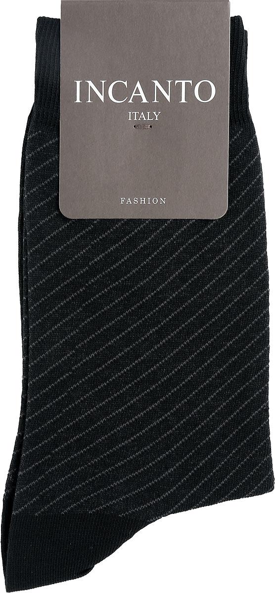 Носки мужские Incanto Fashion, цвет: Nero (черный). BU733036. Размер 2 (39/41)BU733036Мужские носки Incanto Fashion изготовлены из хлопка с добавлением полиамида. Материал тактильно приятный, хорошо пропускает воздух.Носки дополнены комфортной эластичной резинкой. Усиленные пятка и мысок обеспечивают надежность и долговечность. Оформлено изделие принтом в диагональную полоску.Удобные и прочные носки станут отличным дополнением к вашему гардеробу!