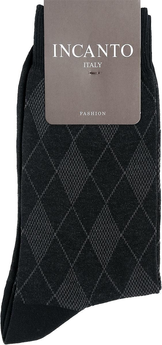 Носки мужские Incanto Fashion, цвет: Nero (черный). BU733034. Размер 2 (39/41)BU733034Мужские носки Incanto Fashion изготовлены из хлопка с добавлением полиамида. Материал тактильно приятный, хорошо пропускает воздух.Носки дополнены комфортной эластичной резинкой. Усиленные пятка и мысок обеспечивают надежность и долговечность. Оформлено изделие геометрическим принтом.Удобные и прочные носки станут отличным дополнением к вашему гардеробу!