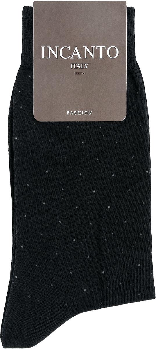 Носки мужские Incanto Fashion, цвет: Nero (черный). BU733039. Размер 3 (42/43)BU733039Мужские носки Incanto Fashion изготовлены из хлопка с добавлением полиамида. Материал тактильно приятный, хорошо пропускает воздух.Носки дополнены комфортной эластичной резинкой. Усиленные пятка и мысок обеспечивают надежность и долговечность. Оформлено изделие принтом в мелкую точку.Удобные и прочные носки станут отличным дополнением к вашему гардеробу!