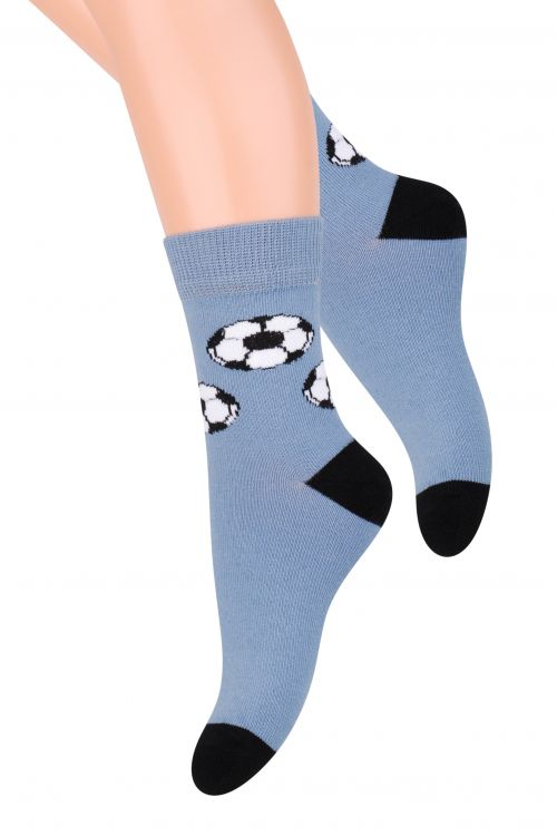 Носки для мальчика Steven, цвет: серо-голубой, черный. 014 (CF115). Размер 29/31, 5-7 лет014 (CF115)/014 (CE115)Hоски для мальчиков, для повседневной носки. Удобные и мягкие. Изготавливаются из хлопка высшего качества. Модели в спортивном или классическом стиле, с детскими аппликациями. Хлопок:72%; полиамид: 22%; полипропилен: до 3%; эластан: 2%; эластодиен: 1%