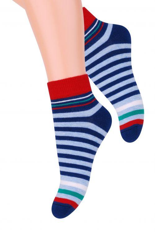 Носки для мальчика Steven, цвет: голубой,темно-синий, красный. 004 (RB96). Размер 29/31, 5-7 лет004 (RC96)/004 (RB96)/004 (RA96)Хлопковые носки для мальчика Steven отлично подойдут для повседневной носки.Они изготовлены из высококачественного материала, очень мягкие на ощупь, не раздражают даже самую нежную и чувствительную кожу. Оформлено изделие цветными полосками. Такие носки послужат замечательным дополнением к детскому гардеробу!