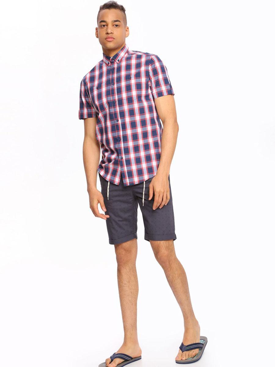 Рубашка мужская Top Secret, цвет: красный. SKS0909CE. Размер 44/45 (52)SKS0909CEМужская рубашка Top Secret, выполненная из высококачественного хлопка. Рубашка прямого кроя с короткими рукавами и отложным воротником застегивается на пуговицы и дополнена двумя нагрудными карманами. Модель оформлена стильным принтом в клетку.