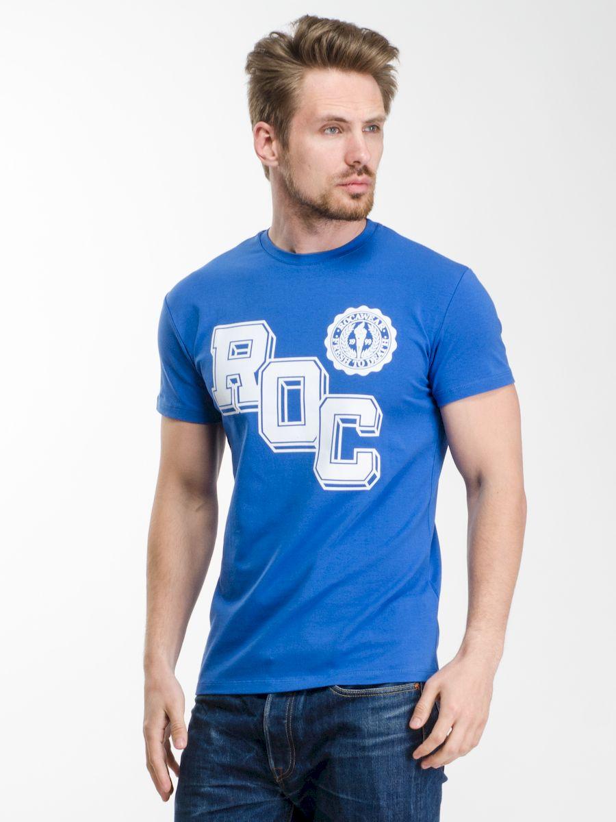 Футболка мужская Rocawear, цвет: синий. R0216Т13. Размер L (50)R0216Т13Мужская футболка Rocawear с округлым вырезом горловины и короткими рукавами изготовлена из натурального хлопка. Она необычайно мягкая и приятная на ощупь, не сковывает движения и позволяет коже дышать, не раздражает даже самую нежную и чувствительную кожу, обеспечивая наибольший комфорт.Спереди футболка декорирована контрастным принтом в виде надписи ROC, который выгодно подчеркнет яркость и оригинальность вашего образа. Модель создана для тех, кто предпочитает комфорт, свободу в движении и практичность.