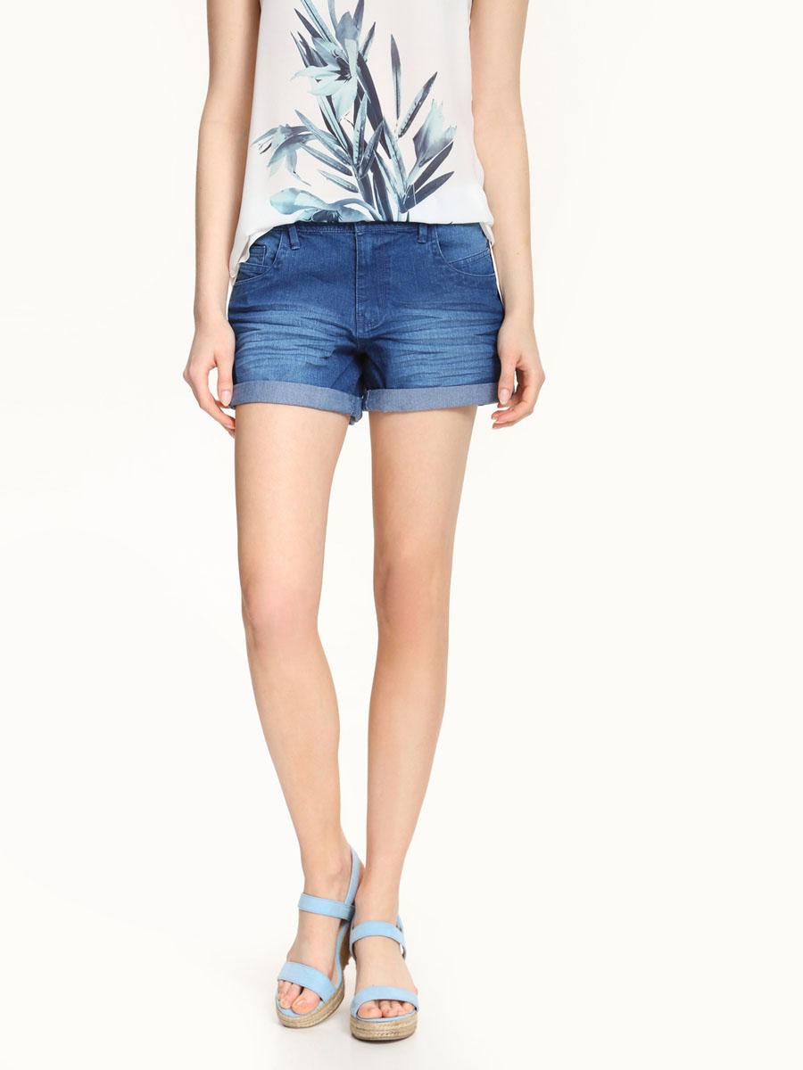 Шорты женские Top Secret, цвет: синий джинс. SSZ0751NI. Размер 36 (42)SSZ0751NIСтильные женские шорты Top Secret выполнены из хлопка с добавлением полиэстера и эластана. Модель стандартной посадки на поясе застегивается на металлическую пуговицу и имеет ширинку на застежке-молнии, а также шлевки для ремня. Спереди расположены два втачных кармана и три маленьких, а сзади - два накладных кармана. Оформлено изделие состариванием денима.