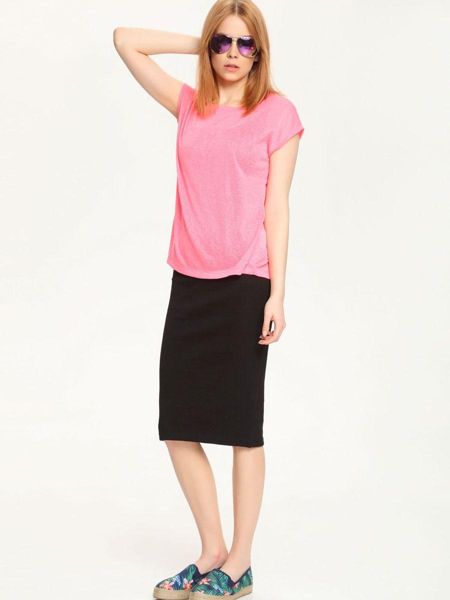 Футболка женская Troll, цвет: розовый. TPO1401RO. Размер L (48)TPO1401ROМодная женская футболка Troll, выполненная из 100% полиэстера.Модель с короткими рукавами и круглым вырезом горловины. Спинка модели удлинена и дополнена разрезом.