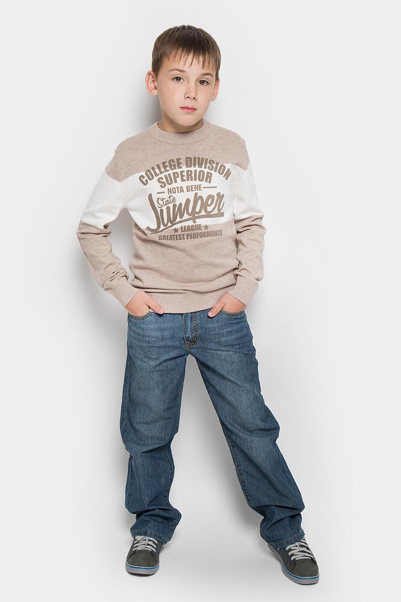 Джинсы для мальчика Finn Flare Kids, цвет: серо-синий. KS16-85039J. Размер 146, 10-11 летKS16-85039B/KS16-85039JДжинсы для мальчика Finn Flare Kids прекрасно подойдут вашему ребенку и станут отличным дополнением к детскому гардеробу. Изготовленные из хлопка с добавлением полиэстера, они мягкие и приятные на ощупь, не сковывают движения и позволяют коже дышать, не раздражают нежную кожу ребенка, обеспечивая ему наибольший комфорт.Джинсы застегиваются на пуговицу по поясу, также имеются шлевки для ремня и ширинка на металлической застежке-молнии. Пояс дополнен резинкой для лучшей фиксации на талии. Спереди модель дополнена двумя втачными карманами и маленьким накладным кармашком, а сзади - двумя накладными карманами. Модель оформлена потертостями.В таких джинсах ваш непоседа будет чувствовать себя комфортно, уютно и всегда будет в центре внимания!