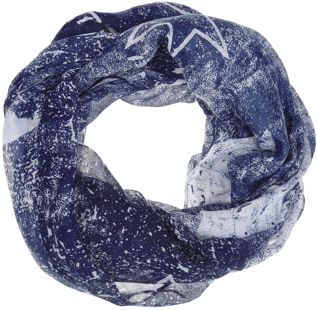 Палантин женский Labbra, цвет: синий, белый. LBL27-272. Размер 70 см х 186 смLBL27-272Элегантный палантин Labbra станет достойным завершением вашего образа.Палантин изготовлен из вискозы. Модель оформлена оригинальным принтом в виде звездного неба. Палантин красиво драпируется, он превосходно дополнит любой наряд и подчеркнет ваш изысканный вкус.Легкий и изящный палантин привнесет в ваш образ утонченность и шарм.