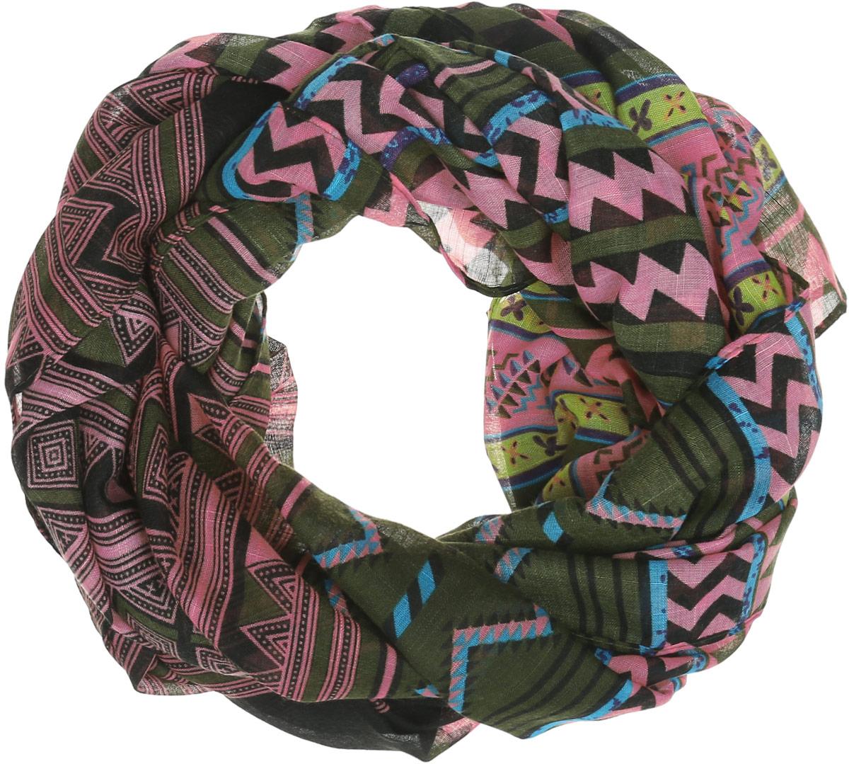 Палантин женский Labbra, цвет: черный, зеленый, розовый, желтый. LDB31-611. Размер 70 см х 180 смLDB31-611Элегантный палантин Labbra станет достойным завершением вашего образа.Палантин изготовлен из вискозы. Модель оформлена оригинальным принтом в полоску, каждая полоска дополнена оригинальным орнаментом. Палантин красиво драпируется, он превосходно дополнит любой наряд и подчеркнет ваш изысканный вкус.Легкий и изящный палантин привнесет в ваш образ утонченность и шарм.