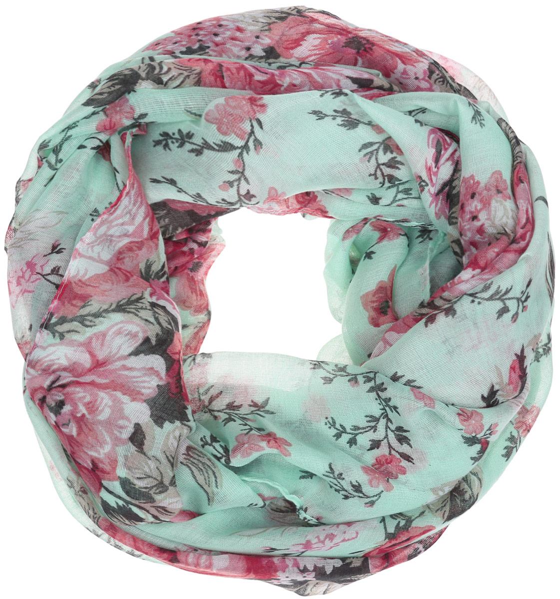 Палантин женский Labbra, цвет: мятный, розовый. LG31-487. Размер 90 см х 180 смLG31-487Элегантный палантин Labbra станет достойным завершением вашего образа.Палантин изготовлен из вискозы. Модель оформлена оригинальным цветочным принтом. Палантин красиво драпируется, он превосходно дополнит любой наряд и подчеркнет ваш изысканный вкус.Легкий и изящный палантин привнесет в ваш образ утонченность и шарм.
