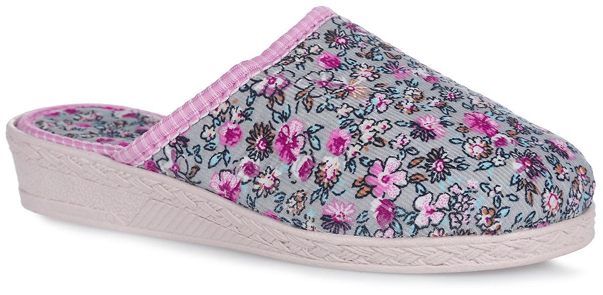 Тапки для девочки Bris, цвет: розовый, светло-серый. 306 -113. Размер 30 (29)306 -113Домашние тапки от Bris придутся по душе вашей девочке! Модель выполнена из текстиля и оформлена цветочным принтом. Подкладка и стелька из мягкого текстиля не дадут ногам вашей девочки замерзнуть. Рифление на подошве обеспечивает идеальное сцепление с любой поверхностью. Чудесные тапки подарят чувство уюта и комфорта.