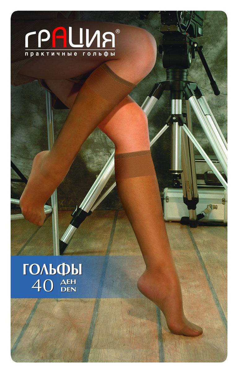 Гольфы Грация 40, цвет: загар. Размер универсальныйГольфы 40 лайкраСтильные гольфы Грация с повышенной комфортности за счет содержания эластана. Изделие мягкое и шелковистое, с широкой резинкой и усиленным мыском, идеально дополнит ваш образ.Модель дополнена мягкой комфортной резинкой. Идеальное облегание и комфорт гарантированы при каждом движении.